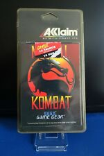 MORTAL KOMBAT SEGA GAME GEAR BLISTER RIGIDE NEUF - VERSION AVEC TATOUAGE