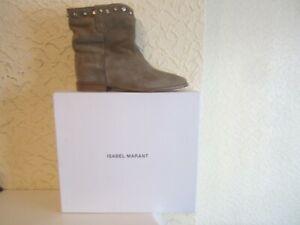 Isabel Marant Crisi Embellished Concealed Wedge Suede Women's Boots