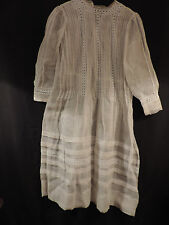 ROBE  DE COMMUNIANTE ANCIENNE  ORGANDI ET BRODERIES/ LACE  DRESS