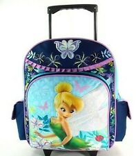 "16"" Disney Fairies Tinkerbell Large Rolling Backpack-tote-bag-school"