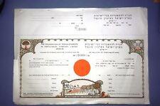 jewish judaica palestine israel Share certificate Colonisation yeshiva Bezalel