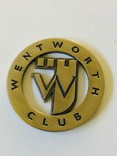 Wentworth Golf Club Surrey England Brass Metal Milled Cutout Ball Marker Coin