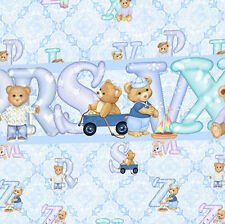 3 sheets of Dolls House Wallpaper 1/12th scale Blue Nursery Quality Paper #131