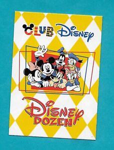 1999 DATED CLOSED CLUB DISNEY DISNEY DOZEN CARD MICKEY GOOFY PLUTO MINNIE DAISY