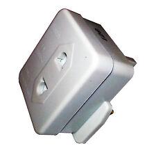 EU 2 Pin To UK 3 Pin ELECTRIC SHAVER TOOTHBRUSH PLUG ADAPTOR 1 A 250V AC ES0013