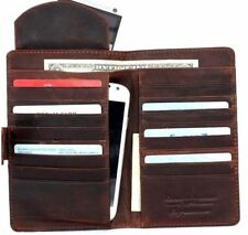 genuine real leather Case for galaxy s7 edge note 5 4 3 wallet card brown retro