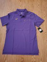 Nike Sideline Short Sleeve Elite Pocket Polo Men L Purple yellow AO5438-549