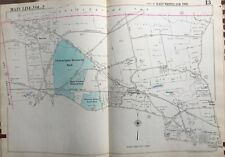 1950 MAIN LINE CHESTER COUNTY VALLEY GOLF CLUB PA EAST WHITELAND TWP ATLAS MAP