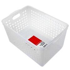 36 x DEEP Plastic Storage Basket 27x18x14cm Organiser Tray Drawers Tubs Tub Box