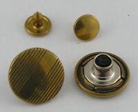 5 Stück Jeansknopf Nietenknöpfe Jeans Knöpfe 17mm messing 04.22