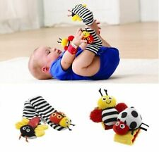 4 PCS Cute Animal Soft Baby Socks Toys Wrist Rattles and Foot Finders