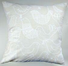 "Natural Scandi Scandinavian Birds Cushion Cover 16"" x 16"""
