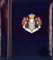 Monaco-classeur à monnaies Louis II et Rainier III- deux albums