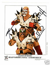 ROAD WARRIOR ANIMAL AND HEIDENREICH LEGION OF DOOM AUTOGRAPHED P-1061 PROMO