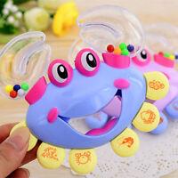 Kids Baby Crab Design Handbell Musical Instrument Jingle Shaking Rattle Toy jx