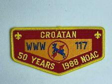 Croatan Lodge 117 OA ZS1 flap patch 1988 NOAC Order of the Arrow Boy Scouts mint