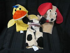Baby Einstein Puppets Dog Cow Duck Set of 3 Lot Soft