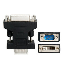DVI-I female to VGA SVGA D-Sub male Audio Video Converter Adapter Black