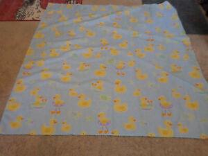 EUC Saturday Knight Quack Quack Rubber Duck Fabric Shower Curtain