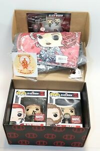 Funko Pop Marvel Collector Corps JUNE BLACK WIDOW COMPLETE BOX LARGE SHIRT NEW