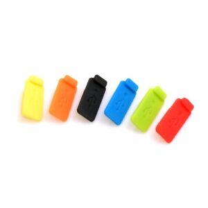 SYSTEM-S Anti Staub Silikon Abdeckung für USB A Buchse Staubschutz 6 Stück