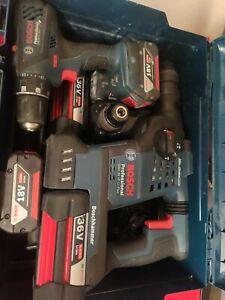 Perforateur + Visseuse Bosch Avec 5 Batteries Et 1 Chargeur Occasion