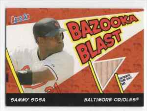 SAMMY SOSA 2006 BAZOOKA BLAST GAME USED BAT BALTIMORE ORIOLES BASEBALL RELIC