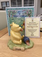 More details for original royal doulton, winnie the pooh, pooh began to eat wp28 boxed limited