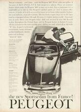 1958 Peugeot 403 Sports Sedan PRINT AD