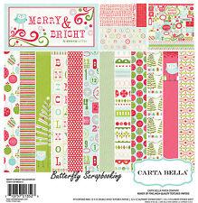 Merry & Bright Christmas 12X12 Scrapbooking Kit Carta Bella Paper Co. NEW