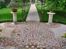 4 Gießformen (Art-Nr. 281-284) aus PP für 13 rustikale Klosterpflaster