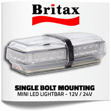 Britax A101 LED Mini Amber Single Bolt Fix Light Bar 12v / 24v Beacon