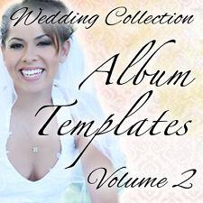 WEDDING PHOTO ALBUM TEMPLATES FOR ADOBE PHOTOSHOP VOL2