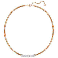 Retired Crystal Necklace Rose Gold Plated Swarovski Jewelry #5192265