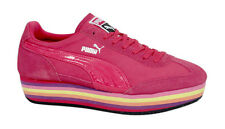 Puma SF77 Platform Womens Pink Trainers Wedge Shoes Lace Up