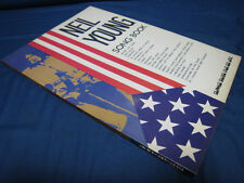 Neil Young Song Book Japan Book in 1973 CSN&Y CSNY Buffalo Springfield