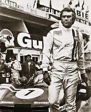 Le Mans 1971 Steve McQueen Sepia Canvas Movie Poster Print Motor Sport F1 Car