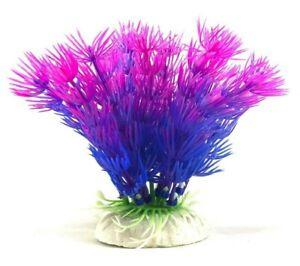 3 Pack - Artificial Aquarium Purple Needle Bushes - 4 inch Plant - Fast Shipping