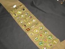 Boy Scout Sash, 30 Crimped Edge Merit Badges,    eb09 #2
