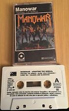 MANOWAR - FIGHTING THE WORLD  - CASSETTE -CASETE - TAPE - K7 --VG+