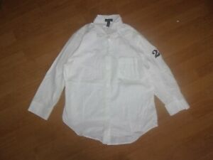 Ralph Lauren LRL Lauren Jeans Co. White long sleeved ladies blouse size XL
