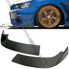 For EVO JDM ARC Style Racing Real Carbon Fiber Front Bumper Lip Canard Splitter