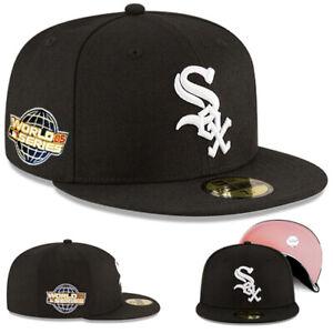 New Era NBA Chicago Whitesox Fitted Hat 2005 World Series Pink under Brim Cap