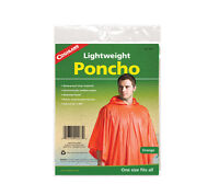 Poncho High Visibility Orange Lightweight Waterproof Coghlans Vinyl Raingear