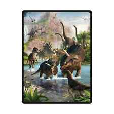 Hot New Customize Custom Dinosaur Travel Home Office Soft Blanket 58x80 inch