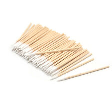 100 Pcs Tattoo Wood Cotton Sticks Swabs Pointed Tip Buds Cleaning Tool Makeup