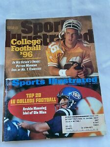 Peyton Manning SI: Sports Illustrated Aug 26 1996 College Football Tennessee Jm