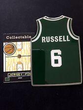 Boston Celtics Bill Russell lapel pin-JUMBO-Classic Collectable-HARDWOOD LEGEND!