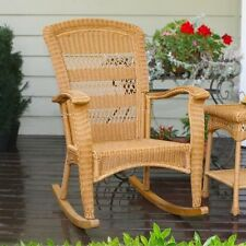 Tortuga Portside Plantation Rocking Chair Outdoor Chairs in Amber