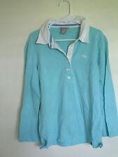 Womens Junior size Medium HOLLISTER green Polo shirt 3/4 sleeved